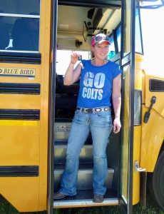 All grown up and driving a school bus!