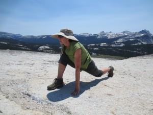 Deb Salonen yoga in Tuolumne